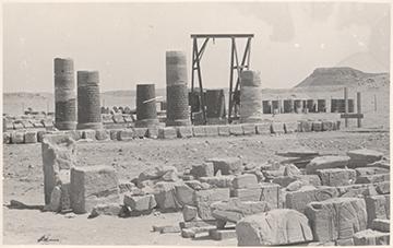 Abb 3: Wiederaufbau des Apedemaktempels von Musawwarat es-Sufra