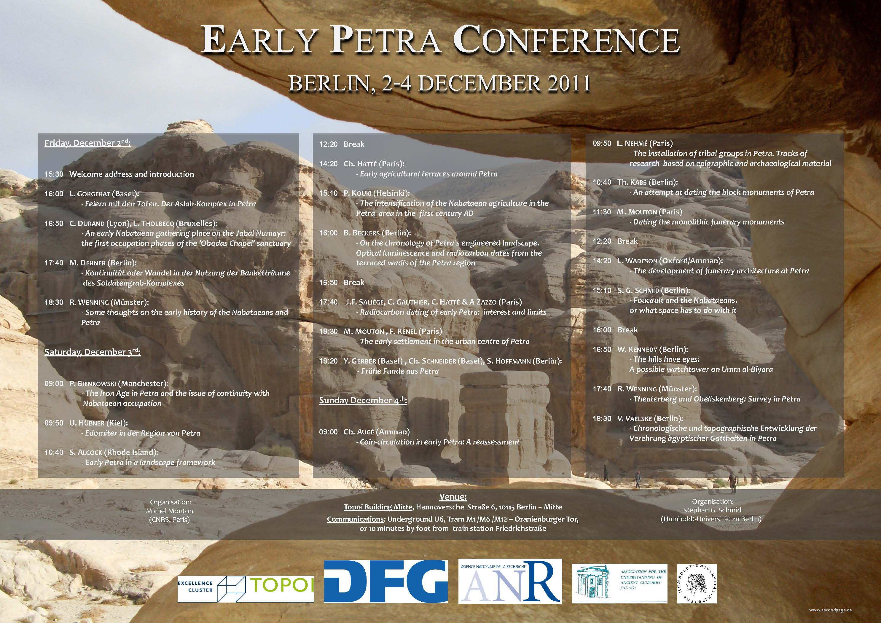 Poster - Early Petra Conference. Berlin, 2-4. December 2011