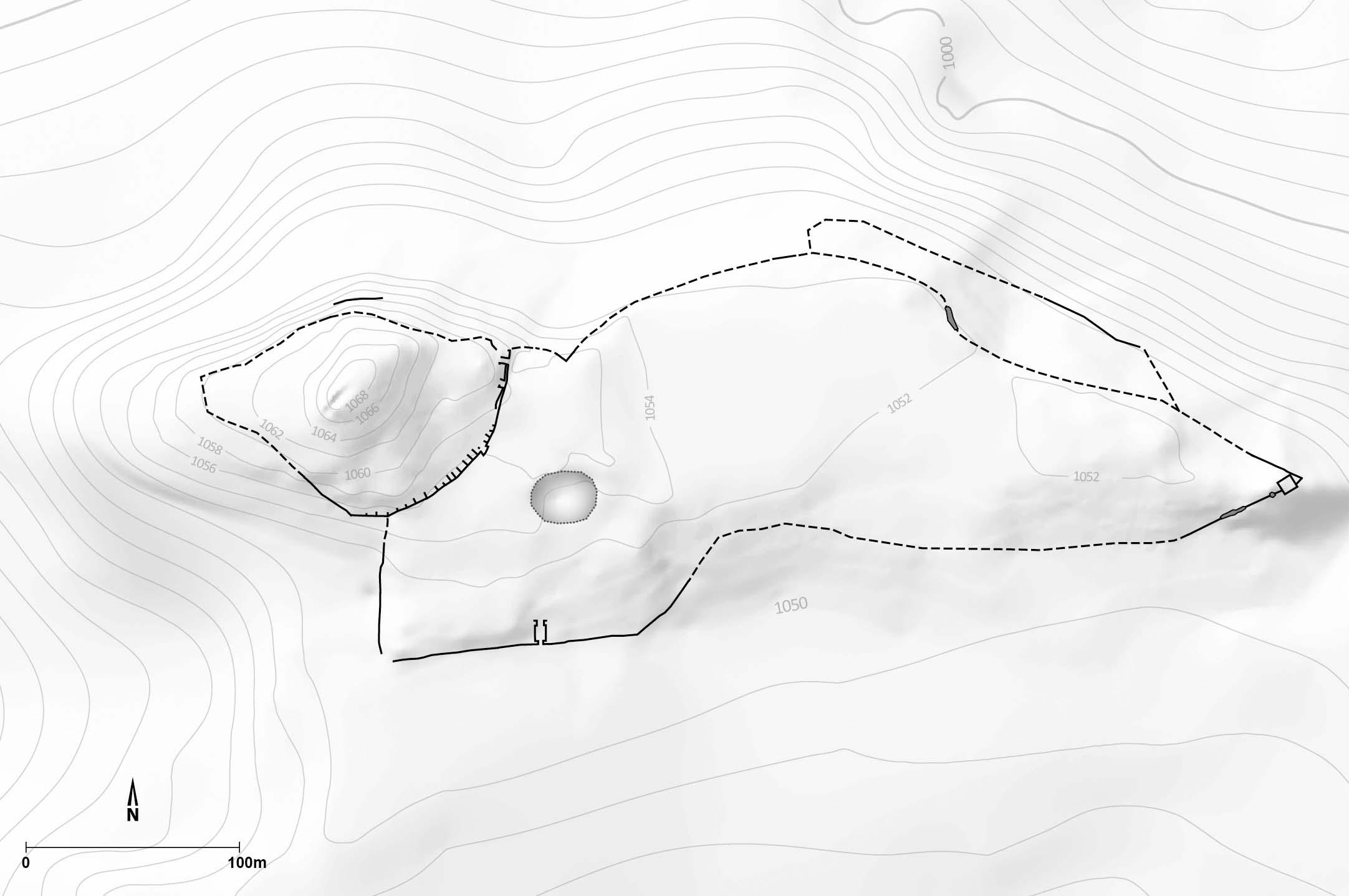 Plan der Siedlung